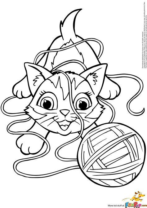 yarn coloring page  getcoloringscom  printable