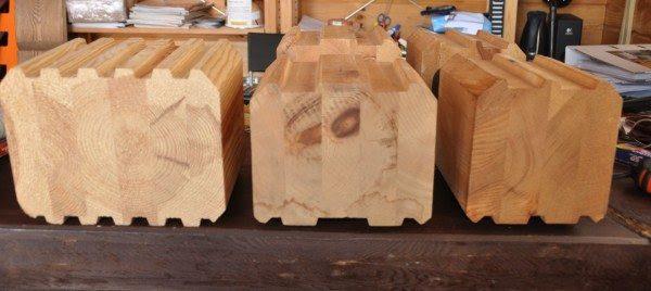 Клееные изделия, состоящие из нескольких частей древесин прошедших естественную влажность и обработанные антисептиками