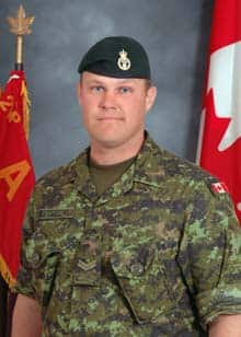 Cpl. Shane Keating was one of four Canadian soldiers killed in a suicide bombing in Afghanistan on Monday.
