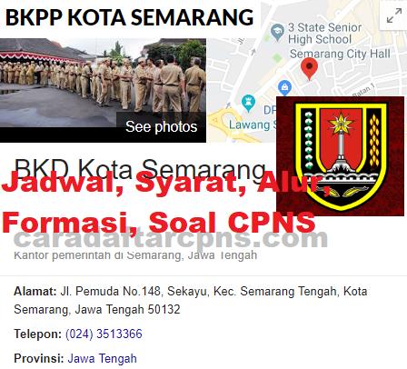 Jadwal Pendaftaran CPNS Pemkot Semarang 2021 Lulusan SMA ...