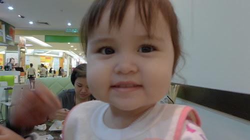 Cute baby girl smiling