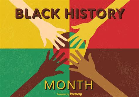 retro black month history psd poster  photoshop
