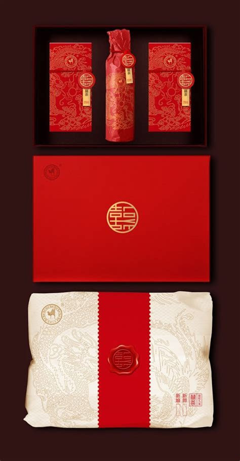 Chinese Wedding Tea Ceremony Pack on Packaging of the