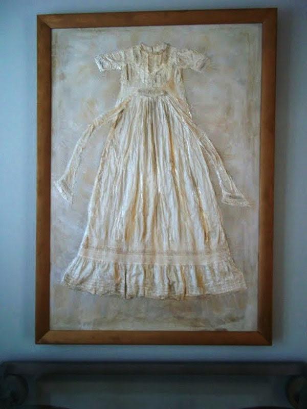 "Custom Painting, Christening gown, ""Memories Becoming Art"""