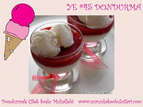 Dondurmali Cilek Soslu Muhallebi - Nur'un Kakao Bulutlari