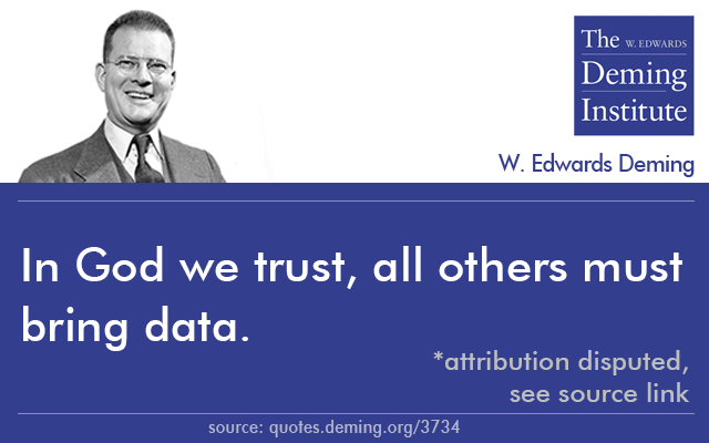 In God We Trust All Others Must Bring Data By W Edwards Deming