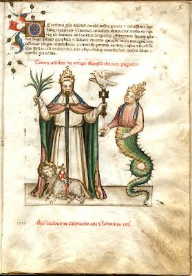 Vaticinia Pontificum - Austrian 15th century manuscript page