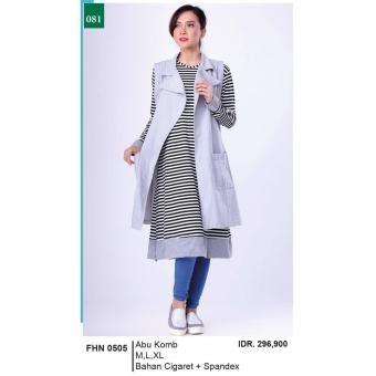 Jual Muamalah Collection Gamis Long Dress Muslimah Kasual Wanita FHN 0505 Online Terjangkau - tokothis