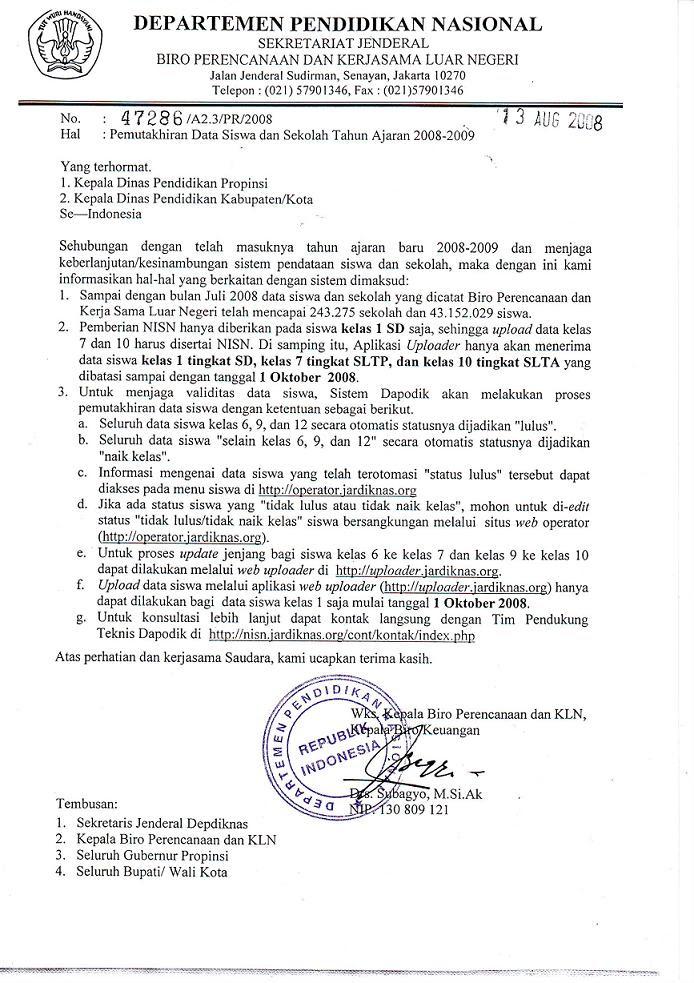 Surat  BAIM