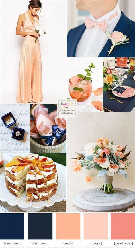 Navy blue and peach wedding colour theme ideas   DJ Peter