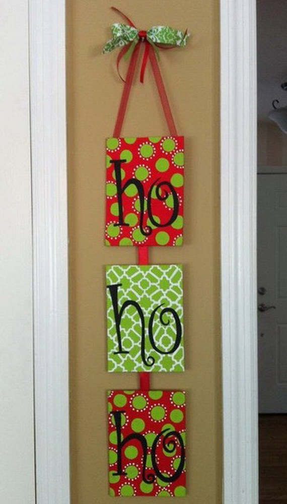 christmas door hanger decoration ideas and designs based on christmas