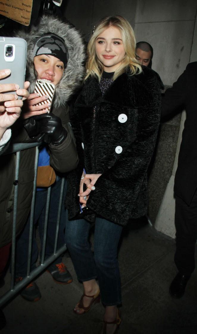 Chloe Moretz Leggy in Short Dress -05