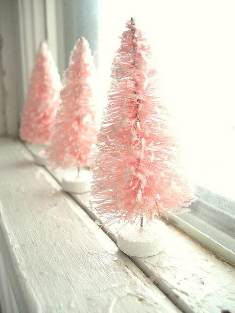 pink bottle trees