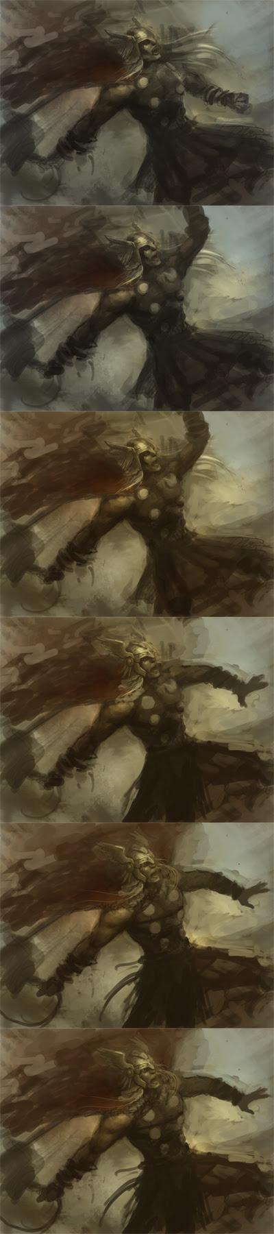 Thor digital painting tutorial