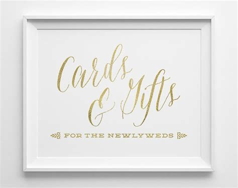 Wedding Signs, Wedding Cards And Gifts Sign, Gift Table