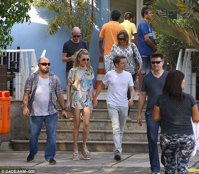 Just you and I: Matt and Elle have been enjoying some downtime in Rio ahead of Muse's concert on Thursday at the HSBC Arena