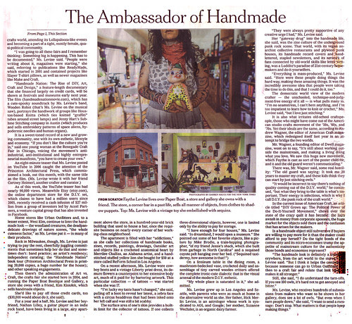 Handmade Nation in the NY Times, page 2
