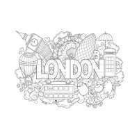 Frais Coloriage De Londres A Imprimer