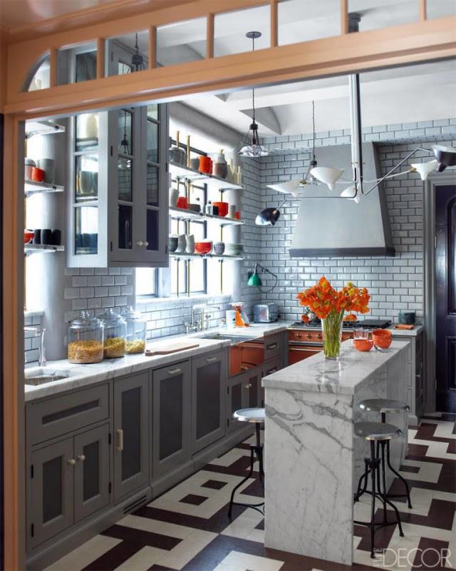 Grey Orange Kitchen
