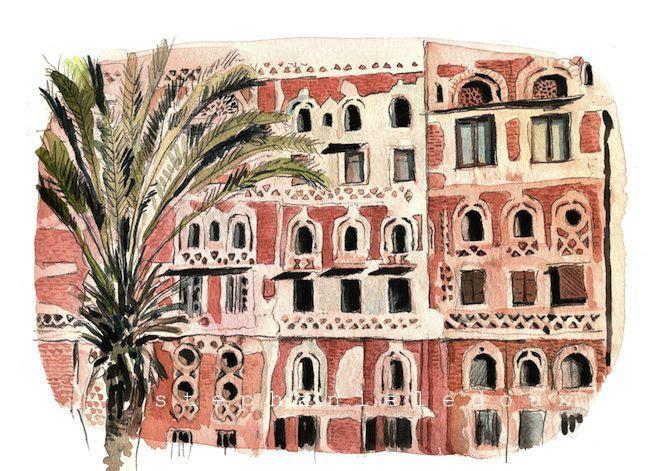façades et palmier blog