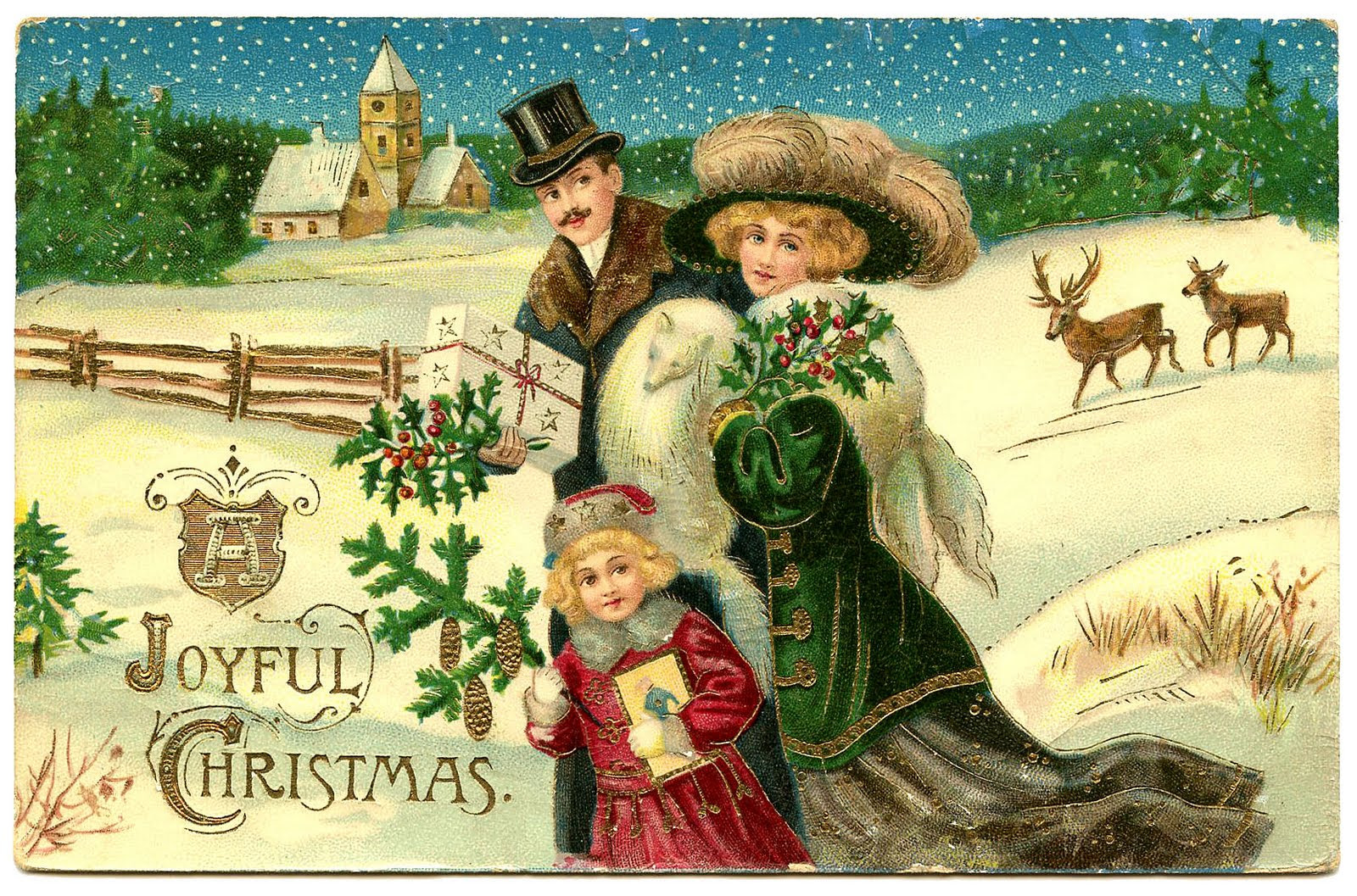 Free Christmas Clip Art Victorian | Christmas Ideas