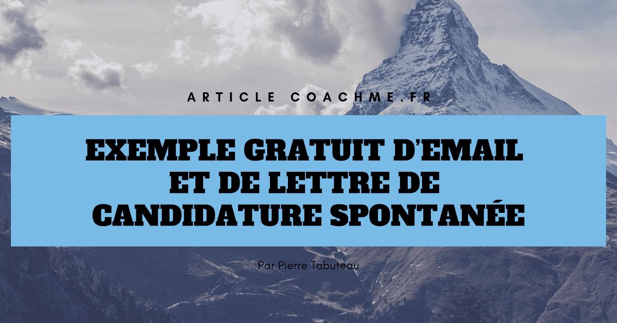 Modele Lettre De Candidature Spontanée - Mail De Relance ...