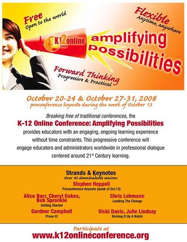 K-12 Online Conference 2008 Marketing Flyer