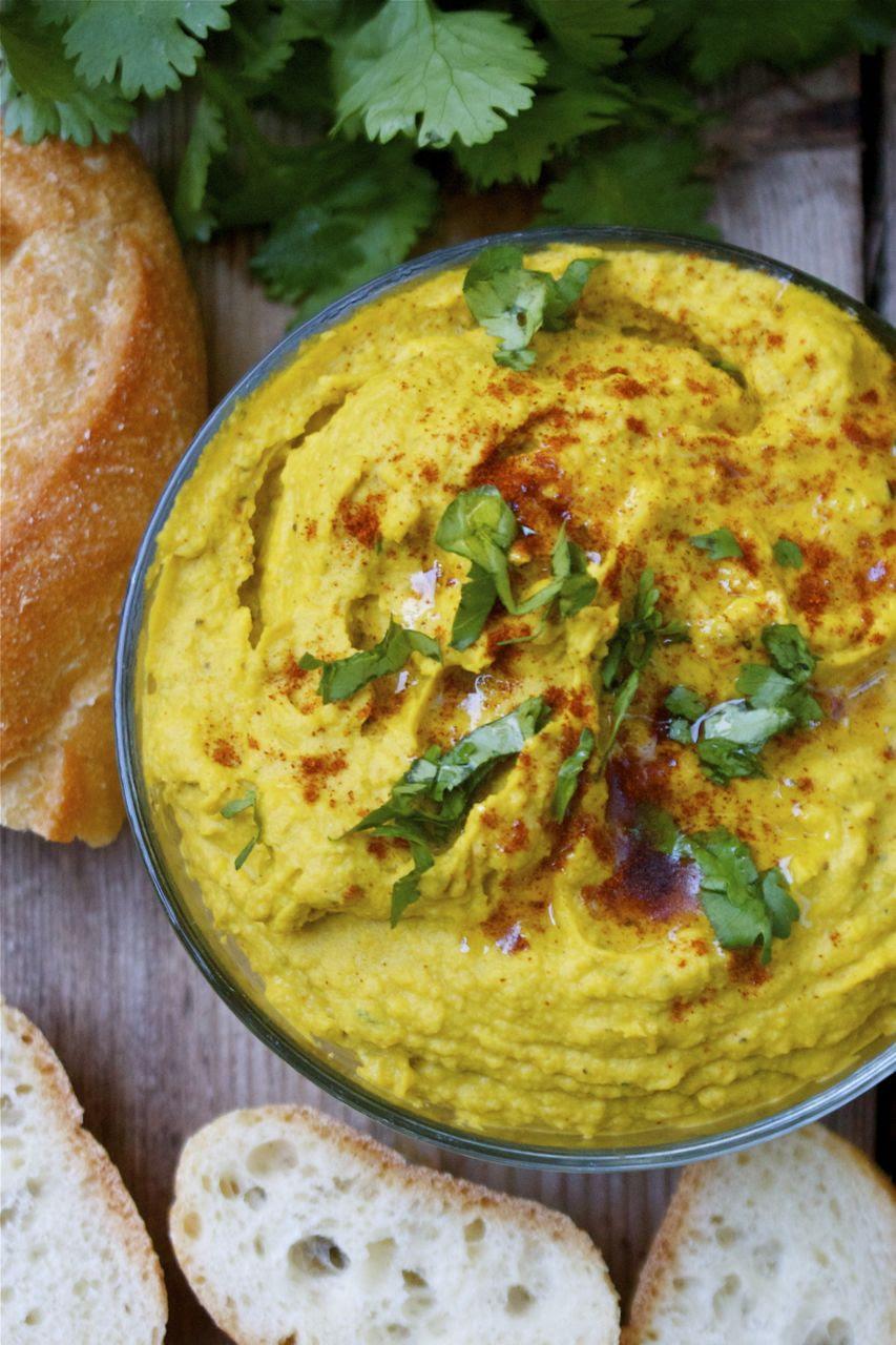 Autumn Squash & Scallion Hummus