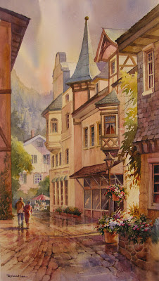 Watercolor Painting of Fusson Germany