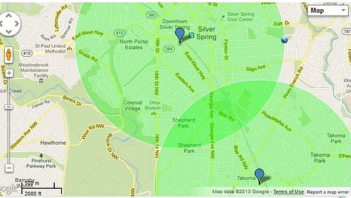 Adding the Silver Spring catchment area of Upper Northwest DC