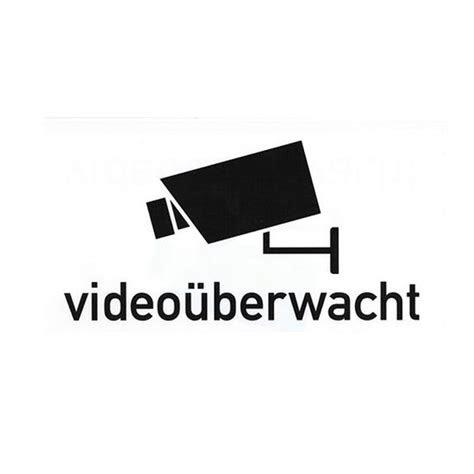 folienschild videoueberwacht wagner sicherheit