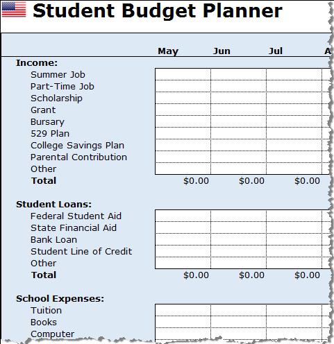 Budget Worksheet For Students Emmamcintyrephotography Com