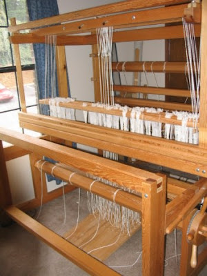 View from the front of the loom.