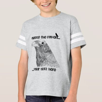 Quote the Raven Customizable Boy's T-Shirt