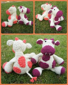 "Free pattern for ""Monty Moo"" from A Bunch of Buttons!c"