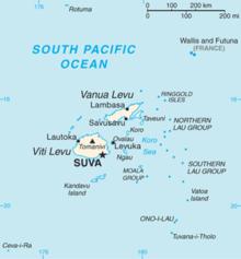 Mapa da Fiji