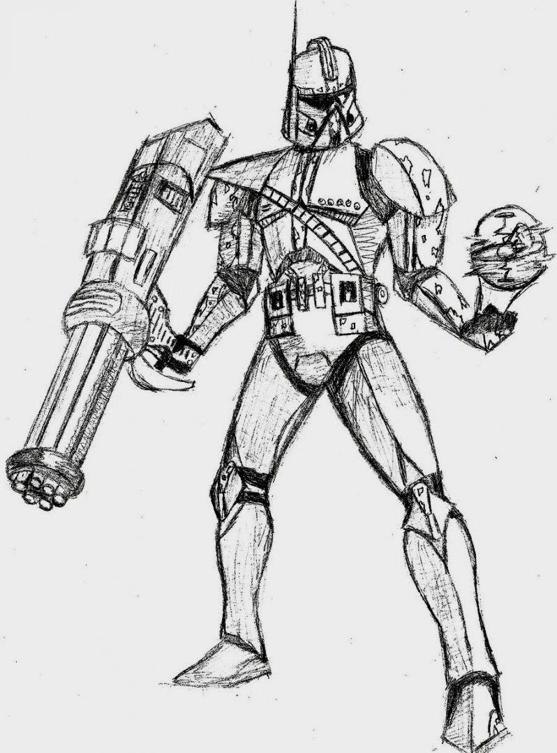 Star Wars Clone Trooper Drawing at GetDrawings | Free download