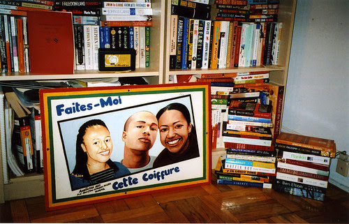barbershop portrait and books