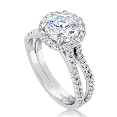 3 Carat Round Cut Diamond Engagement Ring   Ara Diamonds