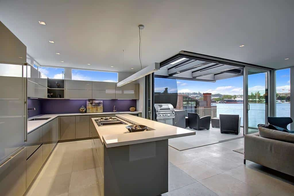 floating homes interiors modern kitchen