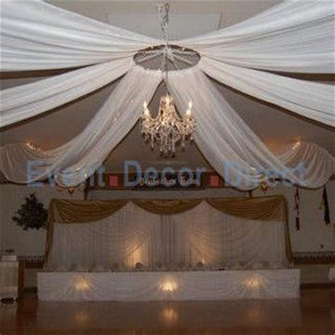 Wedding Ceiling Decor   perhaps a hula hoop around the