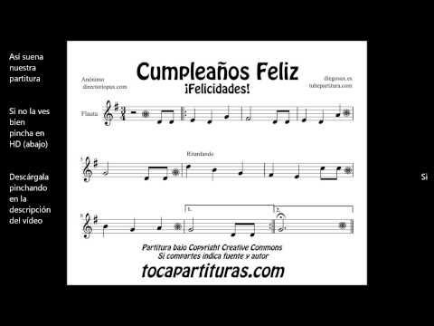 Tubepartitura cumplea os feliz partitura de viola canci n popular - Cumpleanos feliz piano ...