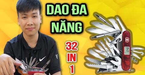 🔥TXT - ĐẬP HỘP DAO XẾP ĐA NĂNG VICTORINOX GIÁ 3.500.000 VND | 32 CHỨC NĂNG TRONG 1 CON DAO