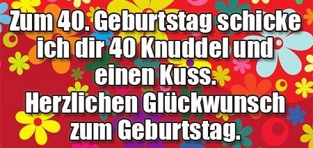 Geburtstagswünsche Zum 40. Geburtstag