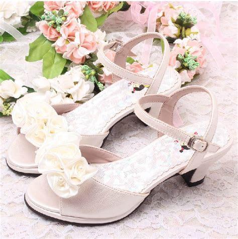 Discount Flower Girls Ivory Bridal Wedding Sandals Summer