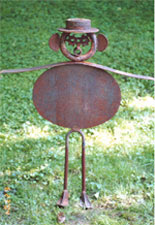 Man in Hat - Abstract sculptures and artwork as home decor and garden decor
