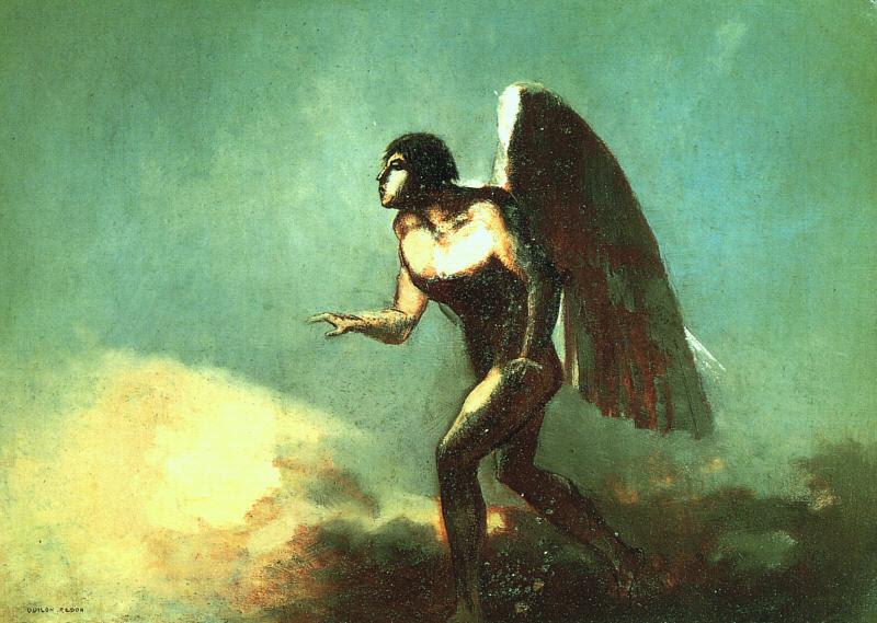 Redon winged-man
