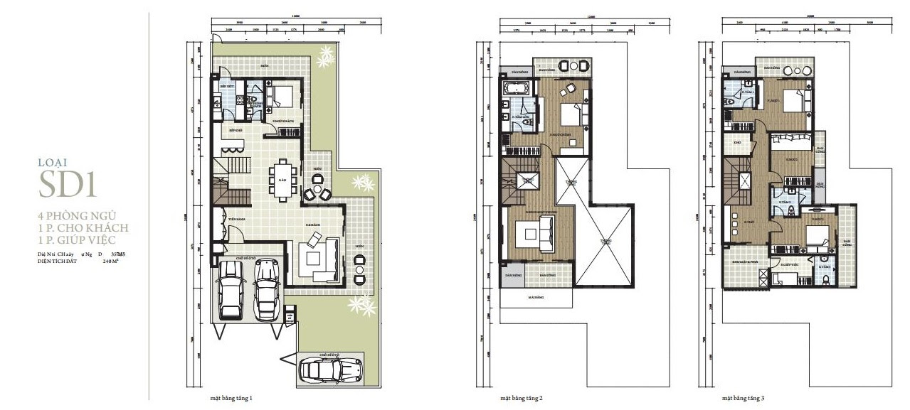 Thiết kế SD1 biệt thự Park City