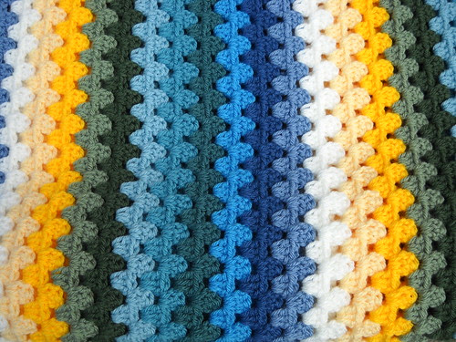 Granny Stripe Blues, Greens and YellowsClose by EMCphotos