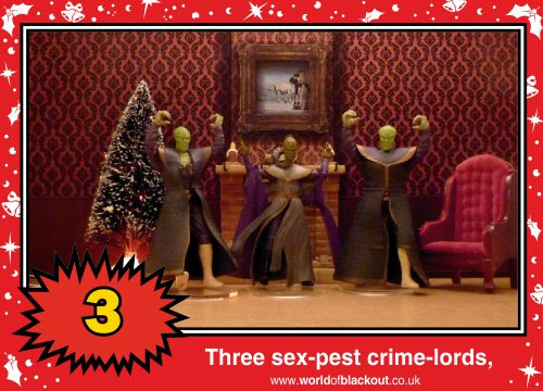 On the twelfth Wookiee Life Day, the Dark Side gave to me: Three sex-pest crime-lords...